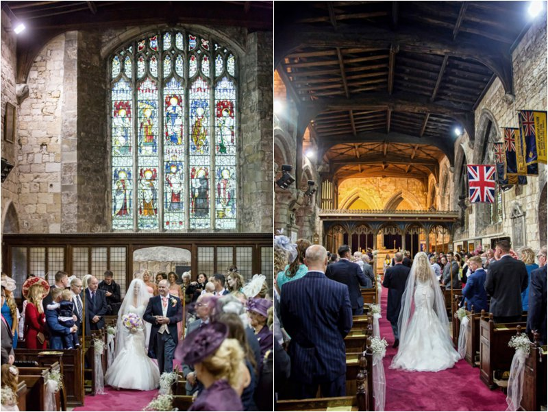wedding ceremony at St Mary's church in Blyth Nottinghamshire - wedding photographer at Hodsock Priory and Blyth Church
