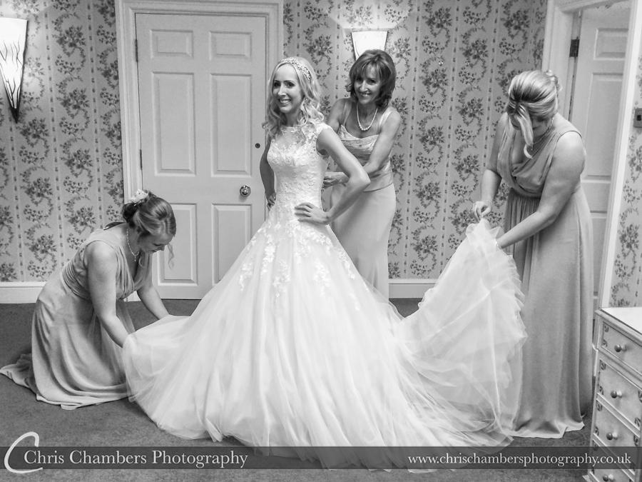 Wedding photography at Hazlewood Castle