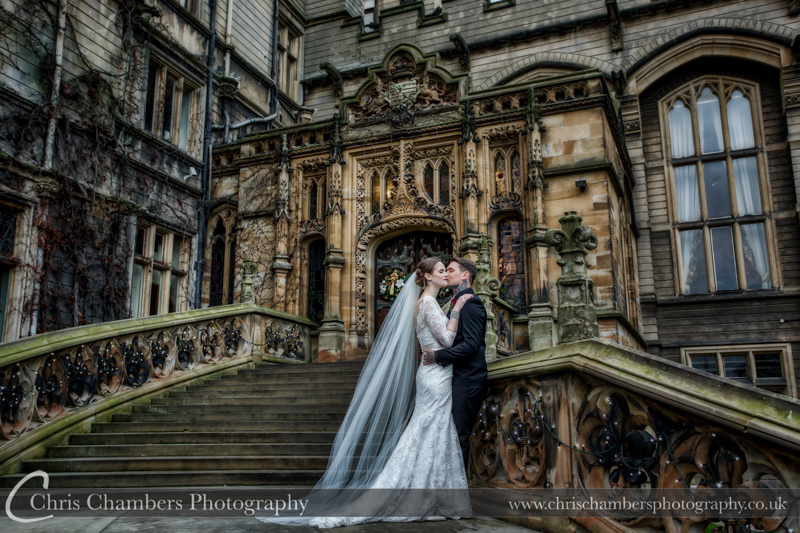 Wedding photography of Carlton Towers with the bride and groom
