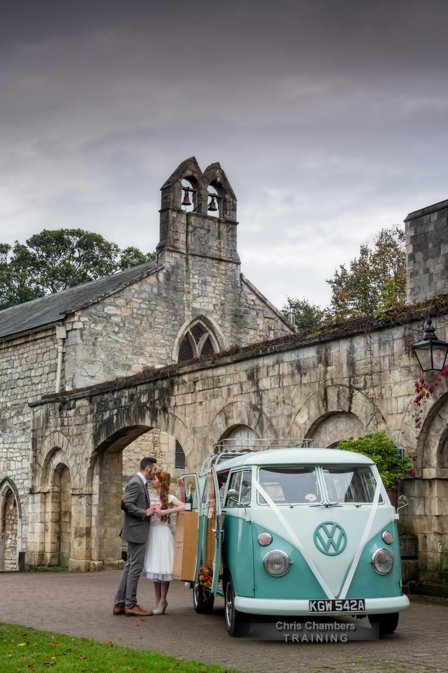 Hazlewood Castle training day for wedding photography