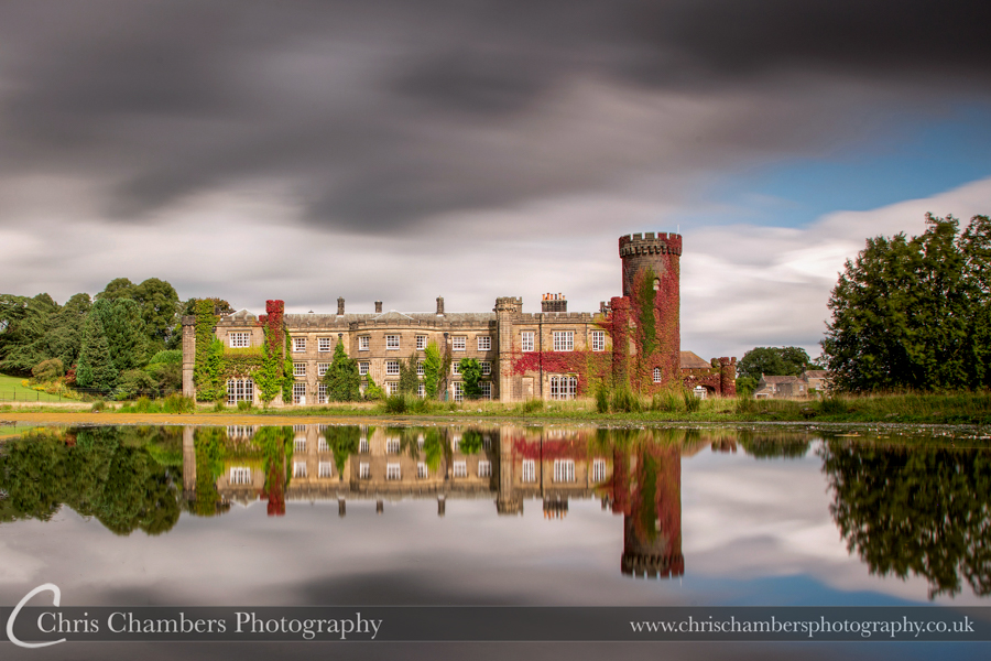 Wedding photographer at Swinton Park - Swinton park lakeside photograph