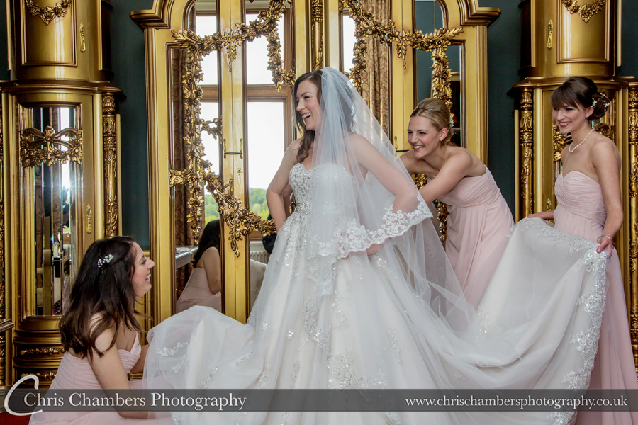 Wedding photography at Allerton Castle North Yorkshire.