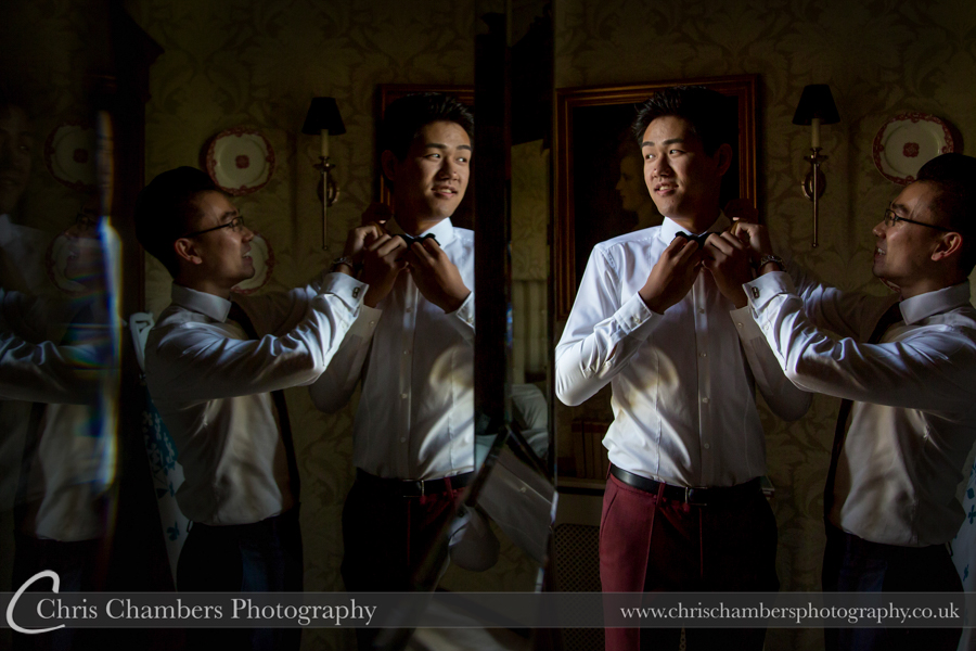 Wedding photography with the bride and groom at Carlton Towers