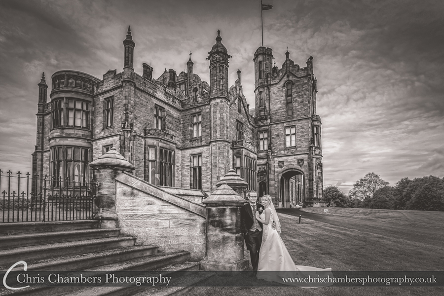 Allerton Castle wedding photography, Yorkshire wedding photography at Allerton Castle