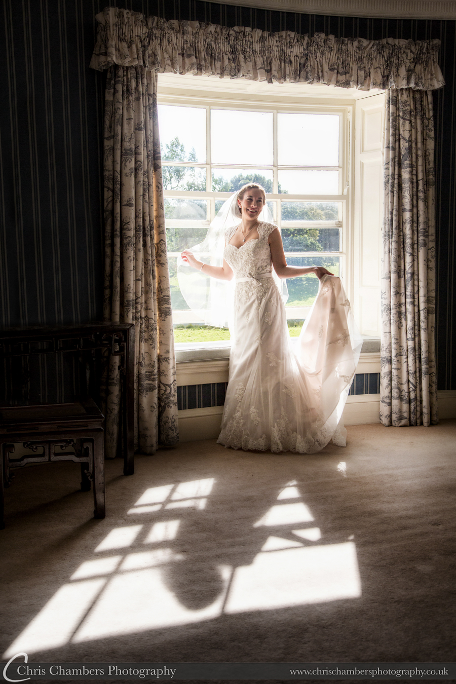 Swinton park weddings, wedding photography at Swinton Park near Masham north yorkshire