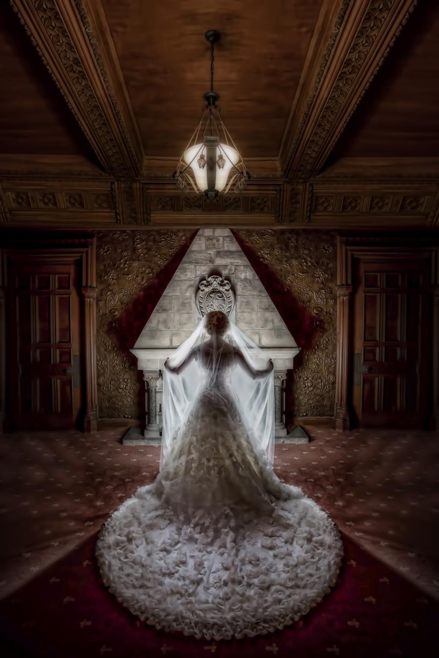 Winter wedding photography training. Courses for winter weddings. Hazlewood Castle wedding photography