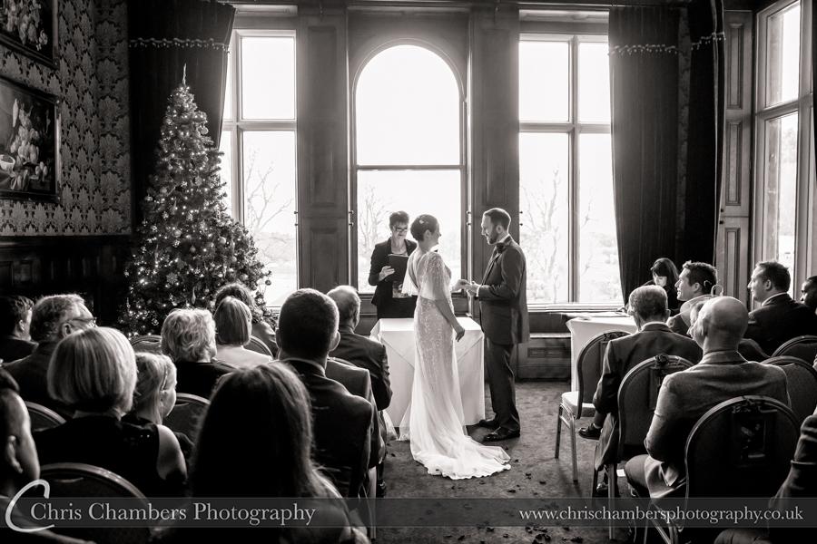 Rossington Hall photography of weddings : Bride and groom wedding photography at Rossington Hall : Doncaster wedding venue