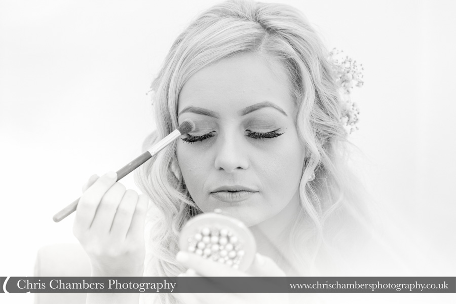 Morley Hayes wedding photography | Bridal makeup wedding photographer | Bridal wedding photography | Award winning wedding photographer | Yorkshire wedding photographs | Hazlewood Castle wedding photography | Allerton Castle wedding photographer