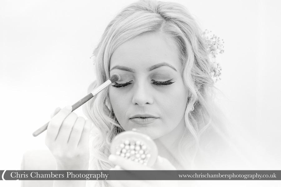 Morley Hayes wedding photography | Bridal makeup wedding photographer | Bridal wedding photography | Award winning wedding photographer | Yorkshire wedding photographs | Hazlewood Castle wedding photography | Allerton Castle wedding photographer