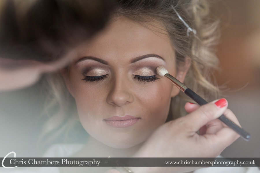 Wentbridge House Hotel wedding photography | Bridal makeup wedding photographer | Bridal wedding photography | Award winning wedding photographer | Yorkshire wedding photographs | Hazlewood Castle wedding photography | Allerton Castle wedding photographer
