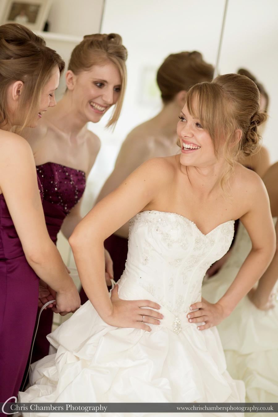 Bridal makeup wedding photographer | Bridal wedding photography | Award winning wedding photographer | Yorkshire wedding photographs | Hazlewood Castle wedding photography | Allerton Castle wedding photographer