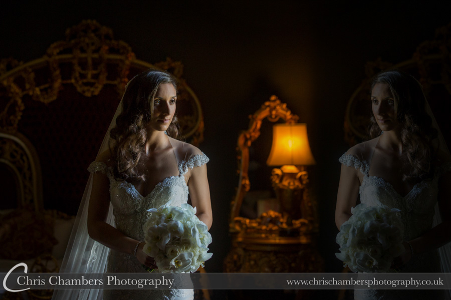 Allerton Castle wedding photography | Bridal wedding photography | Award winning wedding photographer | Yorkshire wedding photographs