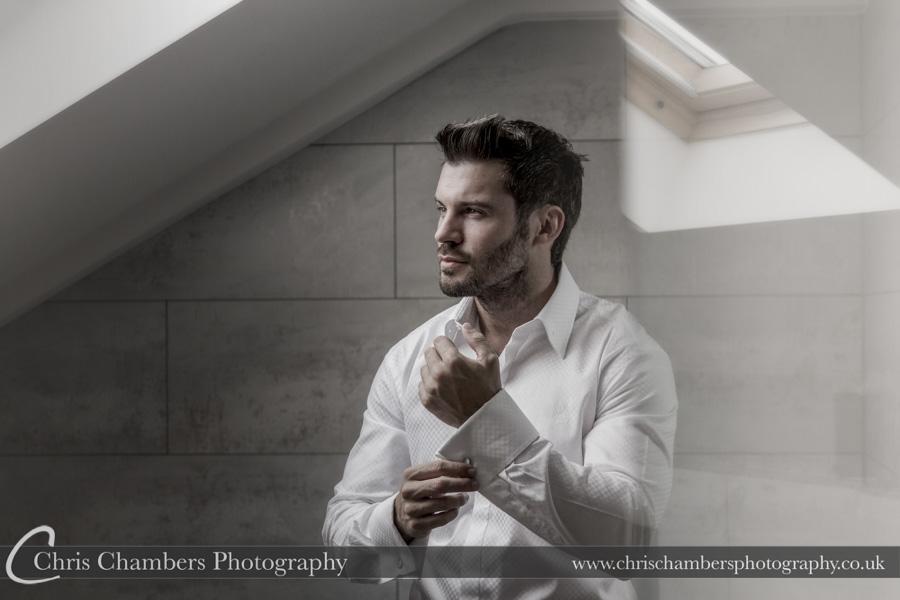 Harrogate wedding photography | Groom preparation wedding photography | West Yorkshire wedding photographer | North Yorkshire wedding photography | Chris Chambers Photography
