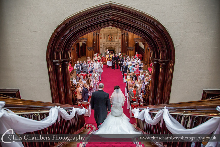 Allerton Castle wedding photography | Wedding ceremony photography | North Yorkshire wedding photographer | Allerton Castle wedding photography