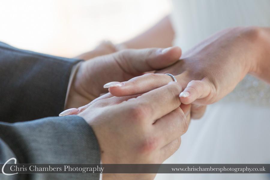 Wedding ring photography | Wedding ceremony photography | Award winning wedding photography | North Yorkshire wedding photographer