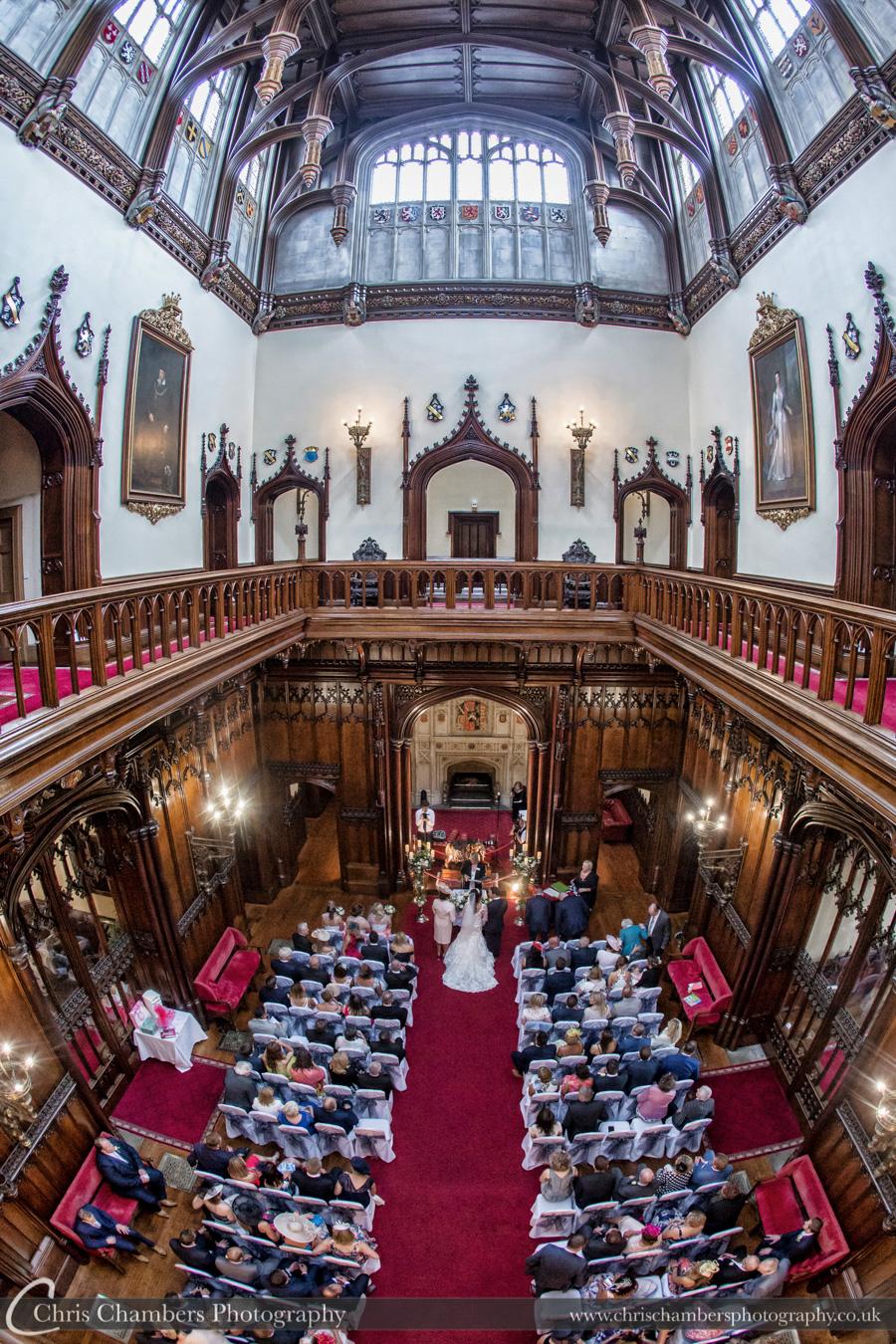Allerton Castle wedding photography | Chris Chambers photography | Wedding ceremony photography | North Yorkshire wedding photographer | Allerton Castle wedding photography