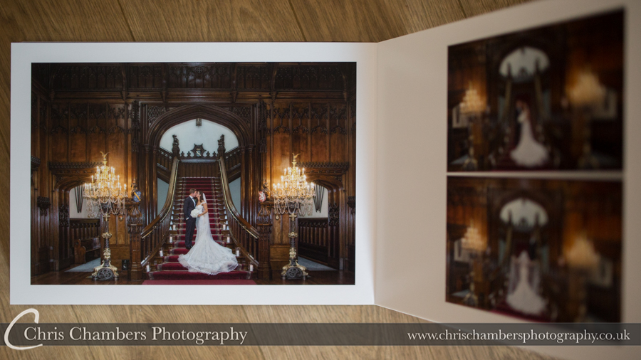 Allerton Castle Storybook Wedding Album. Allerton Castle Storybook Wedding Album. Allerton castle wedding photography. Storybook wedding album from Allerton castle wedding. Chris Chambers Yorkshire wedding photographer