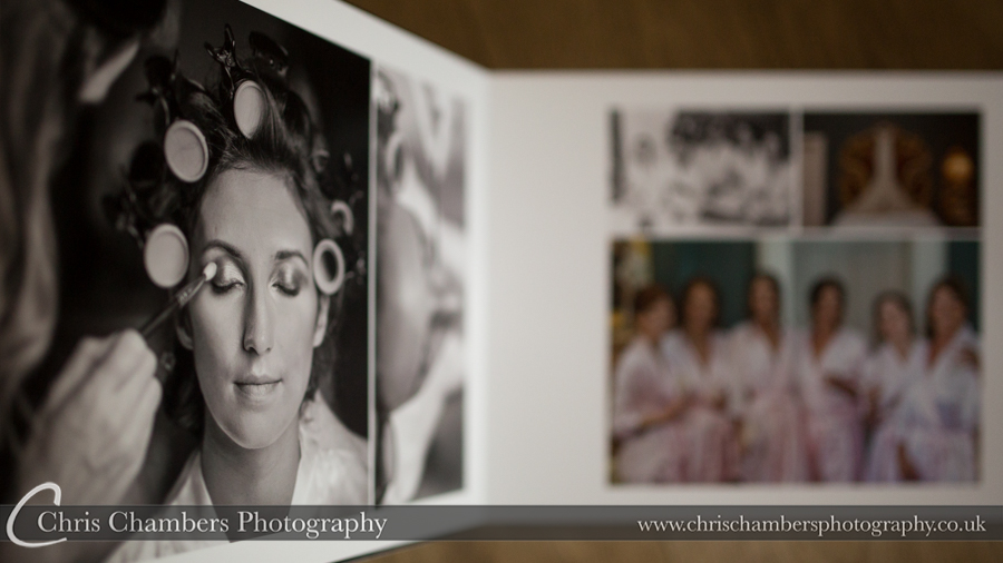 Allerton Castle Storybook Wedding Album. Chris Chambers Yorkshire wedding photographer
